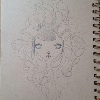 Sketchbook- Goldfish by CourtneyLynnWashburn
