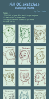 All OC Sketches meme part 1 by Daisyvayle