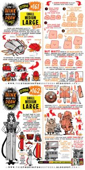 How to draw SMALL, MEDIUM, LARGE tutorial by STUDIOBLINKTWICE