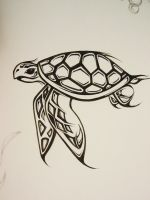 Sea Turtle by Elliesmeria