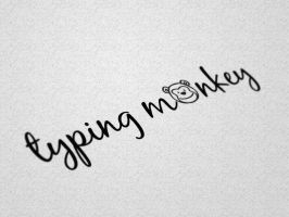 typing monkey - Logo by mydarktime