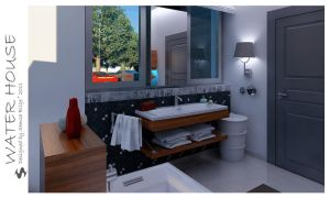 Water House - Bathroom 2 by Semsa