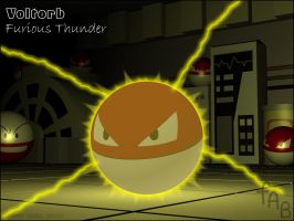 Voltorb - Furious Thunder by fab-wpg