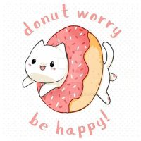 Donut worry cat by linkitty