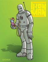 Iron Man and his Blender 2009 by mike-loscalzo