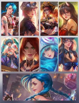 ladys of League of legends by jiuge
