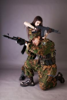 Military Couple Stock 1 by LetzteSchatten-stock