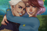 Lunar Secret Santa 2016 - (Human) Ruby + Nall by Danni-Stone