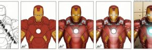 Iron Man Color Process by exeryus