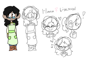 Hana Ref sheet by TheCatQueen10