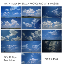 13 Sky Stock Photos 8k / 41 Mpx Resolution Pack by CybertronicStudios