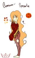 [Gemsona] Spessartine by OpalesquePrincess
