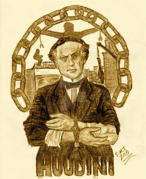 Master of Escape And Magic - Harry Houdini by smjblessing