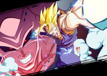 Vegetto VS Majin Buu DBZ by limandao