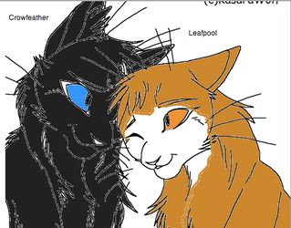 CrowfeatherxLeafpool by WarriorCatLuver123