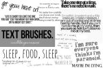 Text brushes by iwillbeyourvoice
