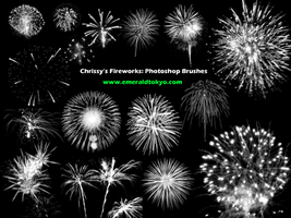 Chrissy's Firework PS Brushes by EmeraldTokyo