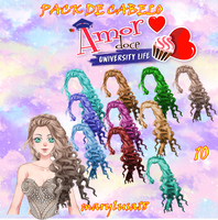 PACK AMOR DOCE-CABELOS HAIRS UNIVERSITY LIFE by Marylusa18