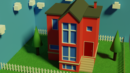 Low Poly House by TallPaul3D