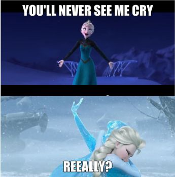 You'll never see Elsa cry by Fantasygerard2000