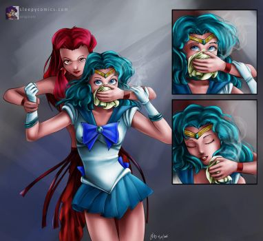 Sailor Neptune Chloroformed by sleepy-comics