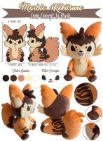 TPS: Marble Cake Fox Plush by MoogleGurl