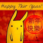 Happy New Year of the Rabbit by slvadrgn