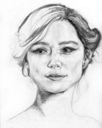 Keira Knightly pencil drawing sketch by arttart74