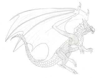Commission #57 - Agon (sketch, 5 of 7) by DelusionalPuffball