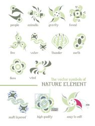 Nature Element Vectors by GraphicIdentity