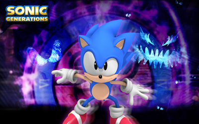 Classic Sonic VS Time Wallpaper by Nibroc-Rock