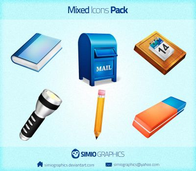 Mixed Icons Pack by simiographics