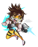 Chibi Overwatch :: Tracer by Nadiaxel