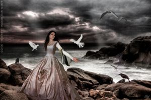 + Lady and birds by Selenys