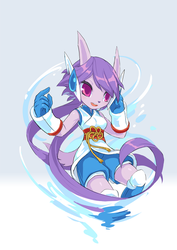 Freedom Planet 2 art experiment of Lilac by TysonTan