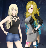 Fairy Tail Collab - Nina and Hikari by xNanys