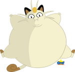 Inflated Meowth by Tiny-Toons-Fan