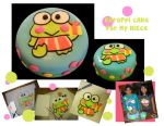 Keroppi cake by katseyesdesigns