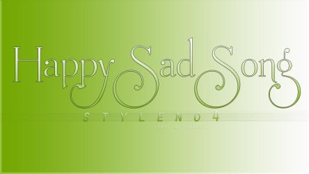 HappySadSong Style No4 by HappySadSong