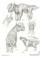 Equinnis Bovidae sketches by MIKECORRIERO