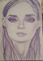 Color pencil portrait of a girl by reptileprincess
