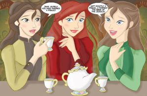 belle, ariel, and jane by mishieru