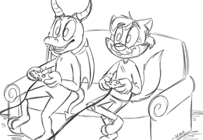 [commission] Video Games by UnoRaccoon