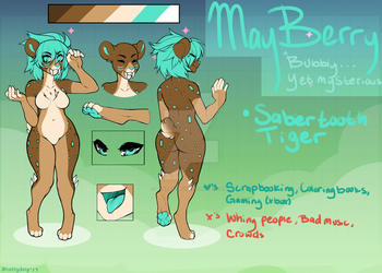 MayBerry the Sabertooth Tiger by Bratty--Boy