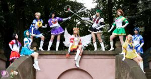 Eternal Sailor Senshi Group by FairyDustProductions