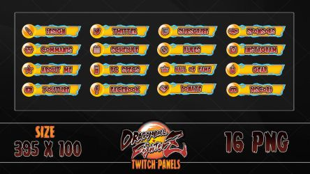 DragonBall FighterZ - Twitch Panels by lol0verlay