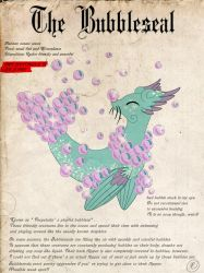 Mirac's Journal of Creatures- The Bubbleseal by Blumydia