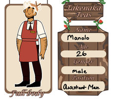 Takenaka Teas Employee App: Manolo by llamasochist