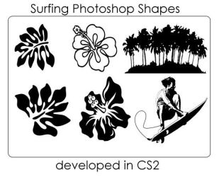 Surfing Themed Shapes by ecovers