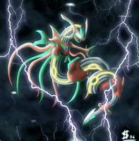 Infected Rayquaza -I.Series- by Esepibe